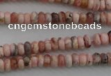 CRC750 15.5 inches 2.5*4mm rondelle rhodochrosite beads wholesale