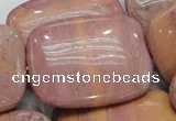 CRC84 15.5 inches 30*40mm rectangle rhodochrosite gemstone beads