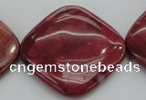 CRC843 15.5 inches 40*40mm diamond Brazilian rhodochrosite beads