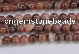 CRC911 15.5 inches 4mm round natural rhodochrosite beads