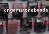 CRD20 15.5 inches 11*15*15mm faceted triangle rhodonite gemstone beads