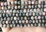 CRD31 15.5 inches 6mm round matte rhodonite beads wholesale