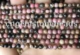 CRD350 15.5 inches 4mm round rhodonite beads wholesale