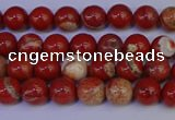CRE300 15.5 inches 4mm round red jasper beads wholesale