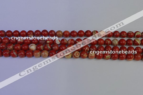 CRE302 15.5 inches 8mm round red jasper beads wholesale