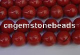 CRE311 15.5 inches 6mm round red jasper beads wholesale