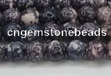 CRF336 15.5 inches 6mm round dyed rain flower stone beads wholesale