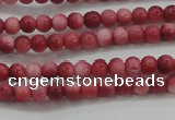 CRF438 15.5 inches 3mm round dyed rain flower stone beads wholesale