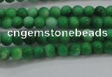 CRF441 15.5 inches 3mm round dyed rain flower stone beads wholesale