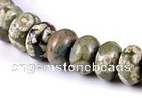 CRH10 different sizes roundel natural rhyolite beads Wholesale