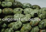 CRH104 15.5 inches 8*12mm rice rhyolite beads wholesale