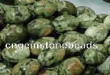 CRH105 15.5 inches 10*14mm rice rhyolite beads wholesale