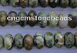CRH118 15.5 inches 6*12mm faceted rondelle rhyolite gemstone beads