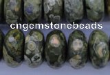CRH120 15.5 inches 10*20mm faceted rondelle rhyolite gemstone beads