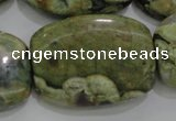 CRH144 15.5 inches 25*35mm rectangle rhyolite gemstone beads