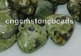 CRH33 15.5 inches 20*20mm triangle rhyolite beads wholesale