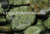 CRH46 15.5 inches 15*30mm oval rhyolite beads wholesale