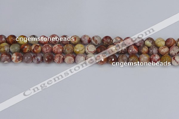 CRH520 15.5 inches 8mm faceted round rhyolite gemstone beads