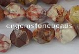 CRH550 15.5 inches 12mm faceted nuggets rhyolite gemstone beads