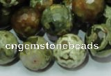 CRH60 15.5 inches 18mm faceted round rhyolite beads wholesale