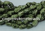 CRH62 15.5 inches 6*8mm faceted teardrop rhyolite beads wholesale