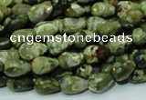 CRH63 15.5 inches 8*12mm faceted teardrop rhyolite beads wholesale