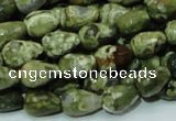 CRH64 15.5 inches 10*14mm faceted teardrop rhyolite beads wholesale
