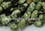 CRH66 15.5 inches 7*11mm faceted rice rhyolite beads wholesale