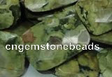 CRH82 15.5 inches 22*30mm faceted rectangle rhyolite beads wholesale