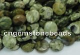 CRH83 15.5 inches 10mm faceted flat round rhyolite beads wholesale