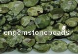 CRH89 15.5 inches 10*14mm faceted oval rhyolite beads wholesale