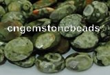 CRH90 15.5 inches 14*18mm faceted oval rhyolite beads wholesale