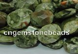 CRH91 15.5 inches 16*20mm faceted oval rhyolite beads wholesale