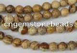CRO09 15.5 inches 6mm round picture jasper beads wholesale