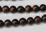 CRO124 15.5 inches 8mm round bronzite gemstone beads wholesale