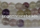 CRO135 15.5 inches 9mm round fluorite gemstone beads wholesale