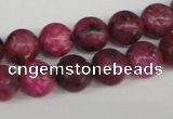 CRO194 15.5 inches 10mm round dyed kiwi stone beads wholesale