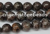 CRO224 15.5 inches 10mm round Chinese snowflake obsidian beads wholesale