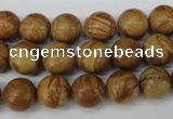 CRO249 15.5 inches 10mm round grain stone beads wholesale