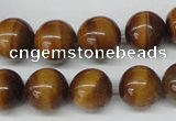 CRO299 15.5 inches 12mm round yellow tiger eye beads wholesale