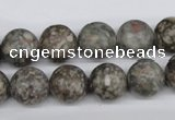 CRO325 15.5 inches 12mm round Chinese leopard skin jasper beads wholesale