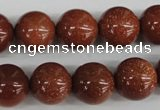 CRO394 15.5 inches 14mm round goldstone beads wholesale