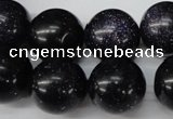 CRO487 15.5 inches 18mm round blue goldstone beads wholesale
