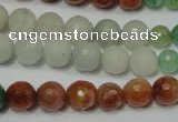 CRO722 15.5 inches 6mm – 14mm faceted round mixed candy jade beads