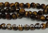 CRO781 15.5 inches 6mm faceted round yellow tiger eye beads wholesale