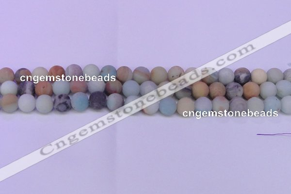 CRO810 15.5 inches 4mm round matte amazonite beads