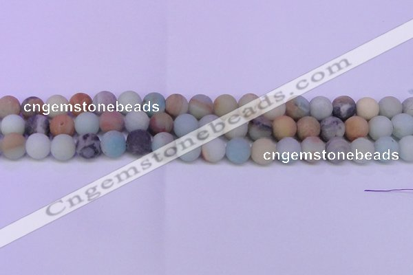 CRO812 15.5 inches 8mm round matte amazonite beads