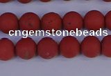 CRO942 15.5 inches 8mm round matte red jasper beads wholesale