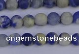 CRO951 15.5 inches 6mm round matte sodalite beads wholesale