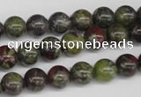 CRO97 15.5 inches 8mm round dragon blood jasper beads wholesale